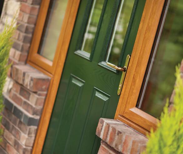 Green Composite Door